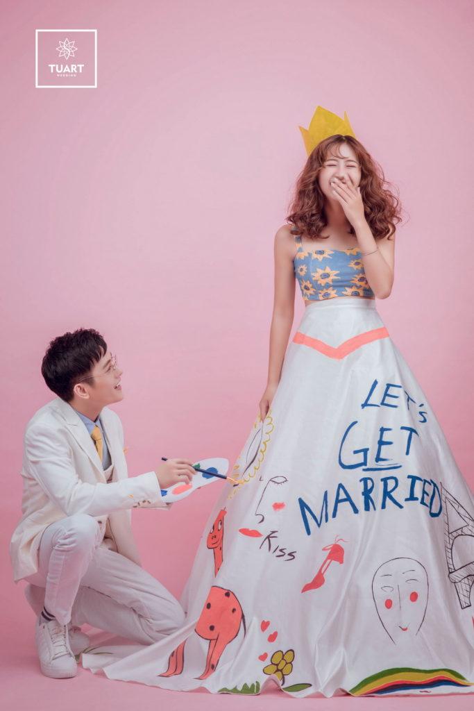 Album chụp ảnh cưới Concept màu sắc