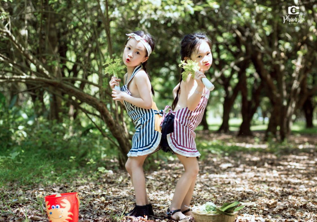 Album chụp ảnh cho bé tại Vườn nhãn Vĩnh Tuy