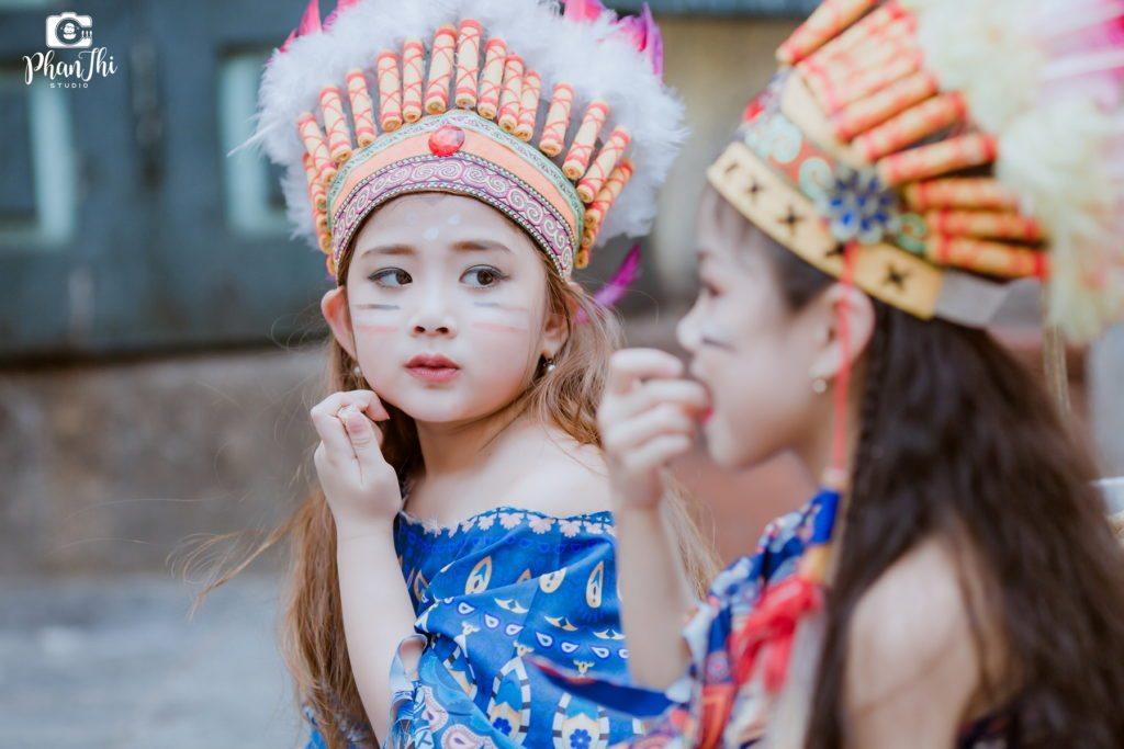 Album concept chụp ảnh cho bé Thổ Dân chụp ảnh thời trang cho bé