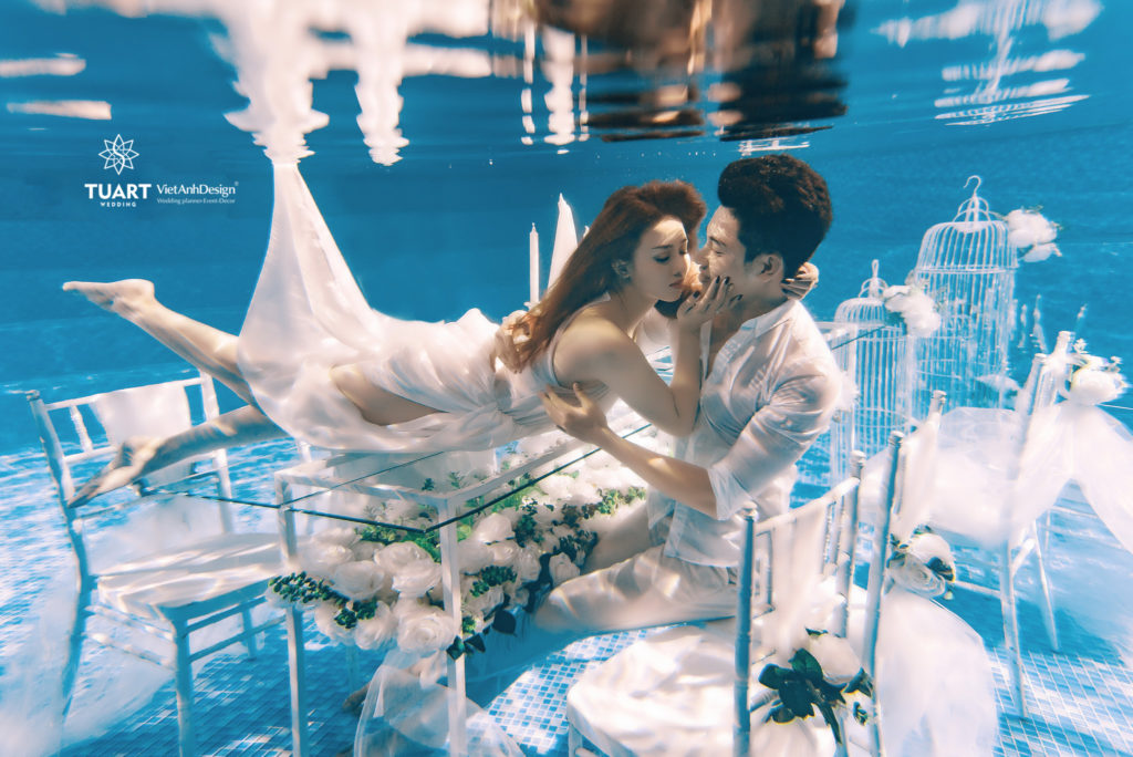 Album chụp ảnh cưới dưới nước – Concept TuArt Wedding