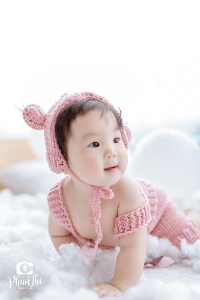 chụp ảnh cho bé Su Hào và bé Min