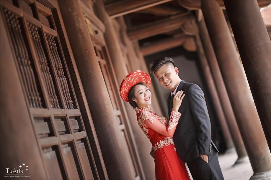 Ảnh cưới đẹp với áo dài