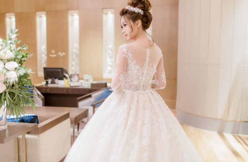 váy cưới bella