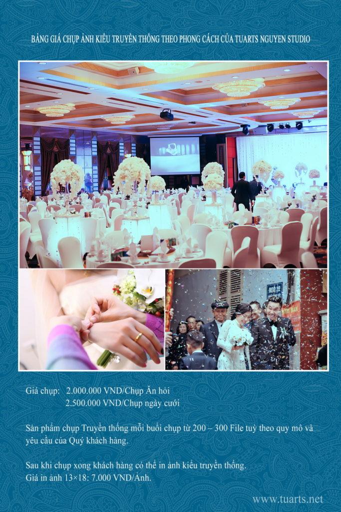 Báo giá chụp phóng sự cưới
