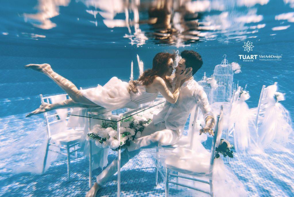 chụp ảnh cưới đẹp dưới nước