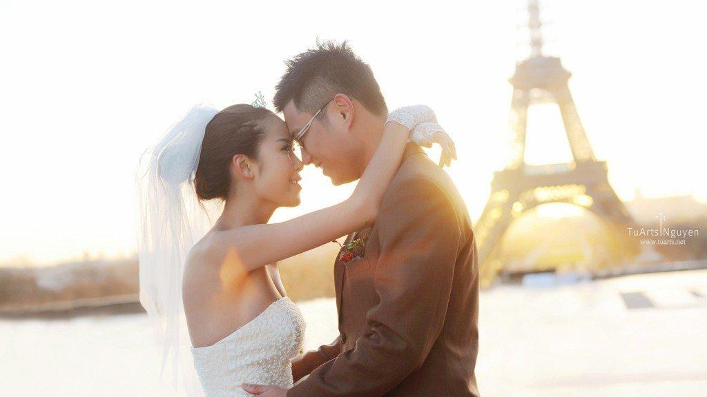 chụp ảnh cưới ở Pháp