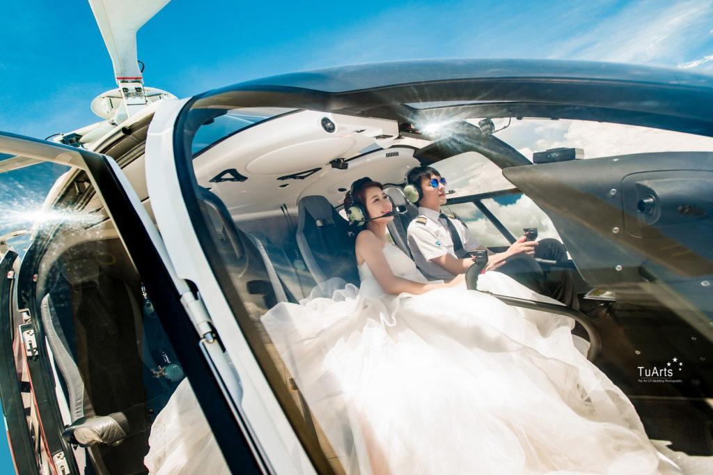 Ảnh cưới đẹp với trực thăng 23