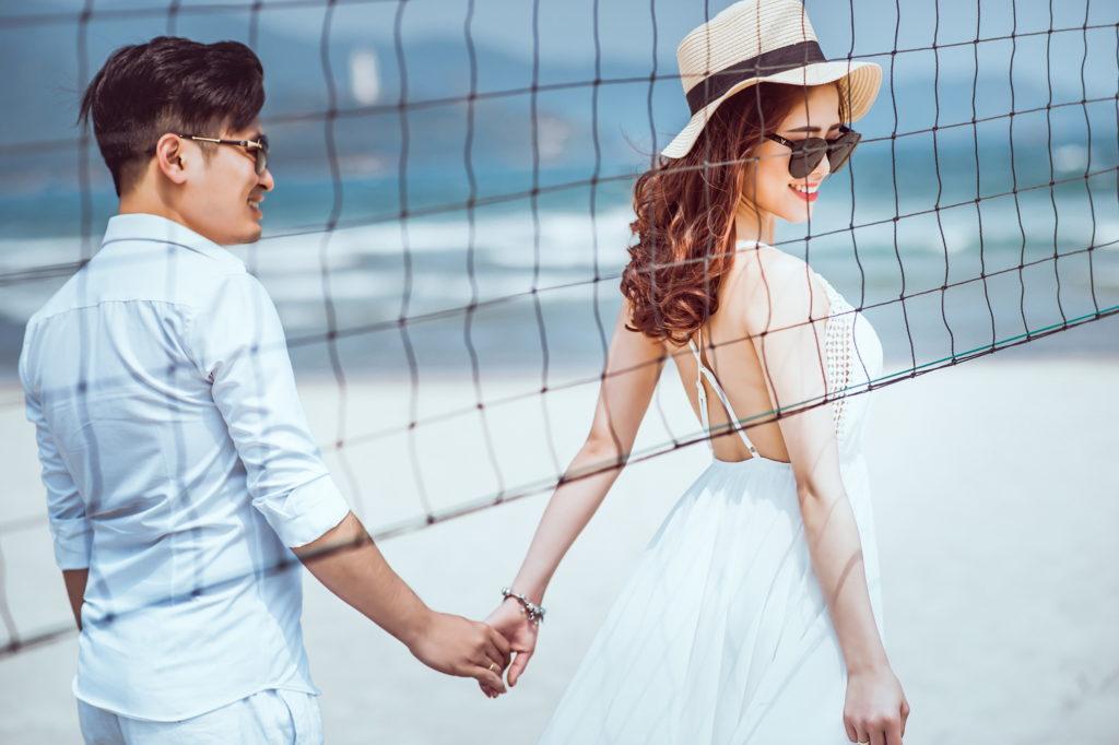 chụp ảnh cưới tại biển Đà Nẵng