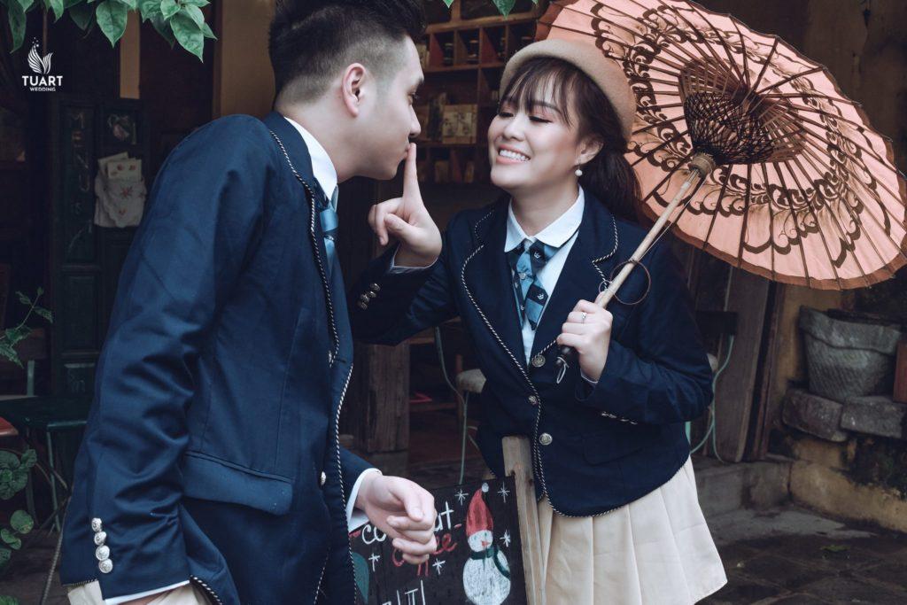Studo chụp ảnh cưới đẹp - Concept cặp đôi Hàn Quốc