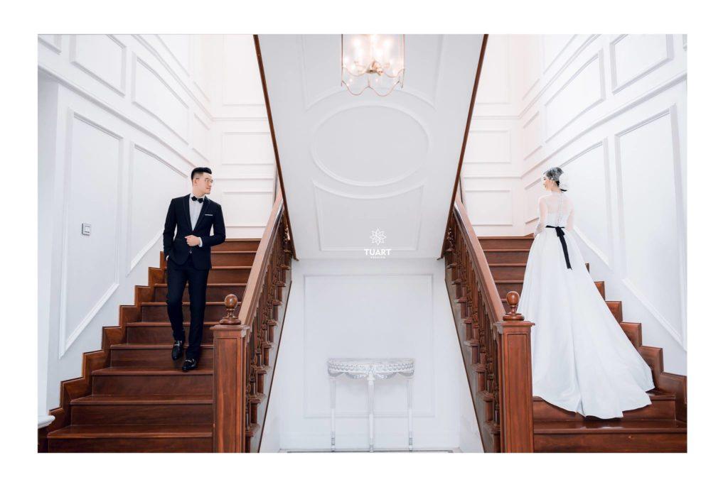 Album ảnh cưới đẹp ở biệt thự hoa hồng