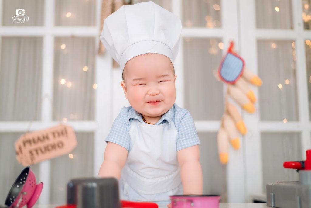 Album chụp ảnh cho bé Bí-Đầu bếp nhí