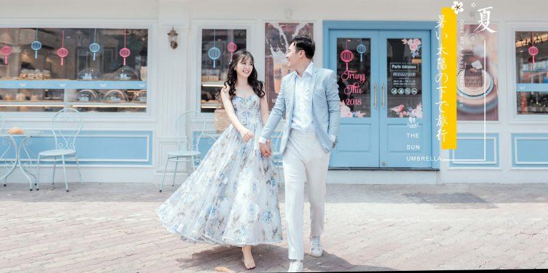 phong cách chụp ảnh cưới Hàn Quốc