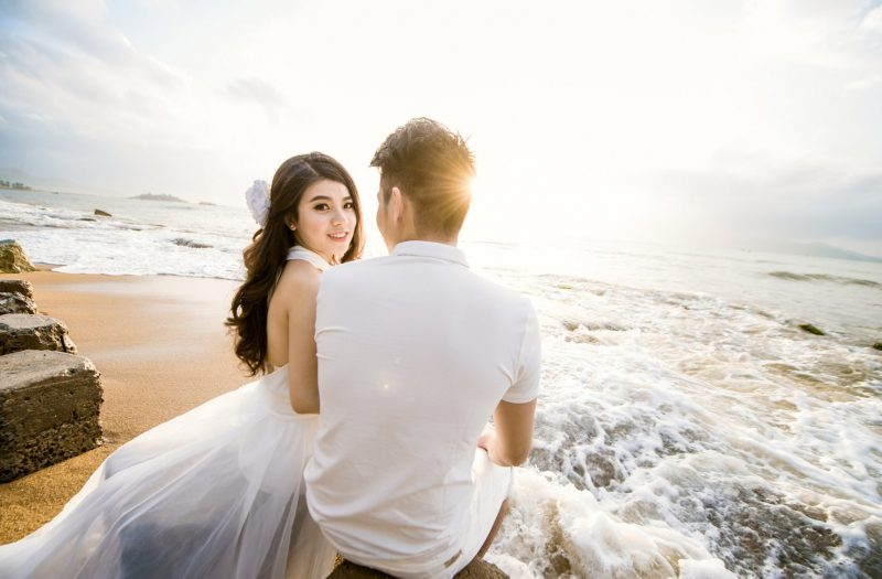 chụp ảnh cưới đẹp biển nha trang